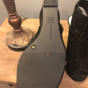 INC International Concepts Shoes - 🥰 Adorable INC Black Wedge Sandals